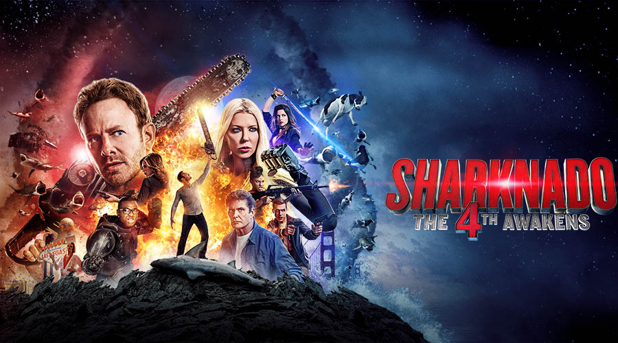The Sharknado 4 movi poster. Courtesy of fandango.com