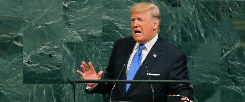 President Trump addresses the UN General Assembly