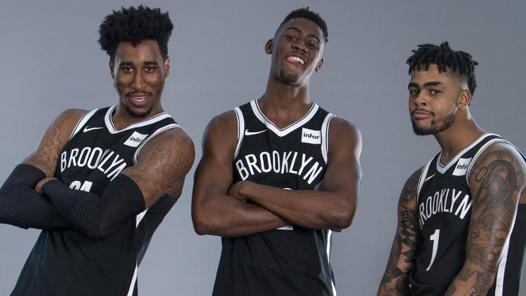 Rondae+Hollis-Jefferson%2C+Caris+LeVert%2C+D%27Angelo+Russell+%28Nicole+Sweet%2FUSA+TODAY+Sports%29%0A