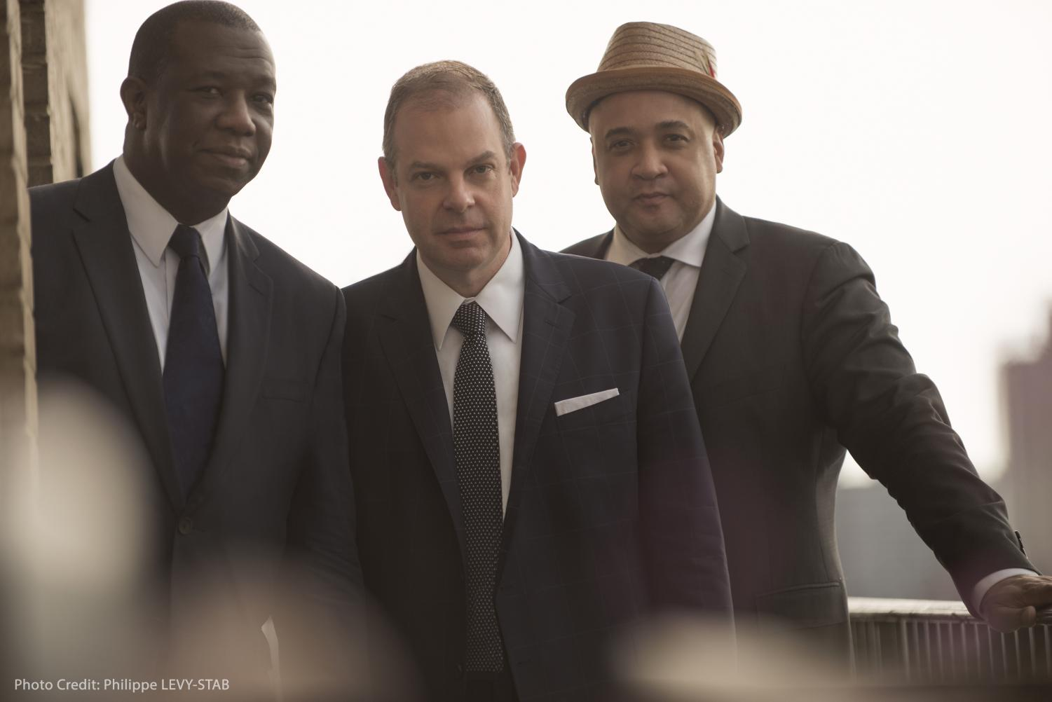 The Bill Charlap Trio: Kenny Washington (left) Bill Charlap (middle) and Peter Washington (right), thekurlandagency.com