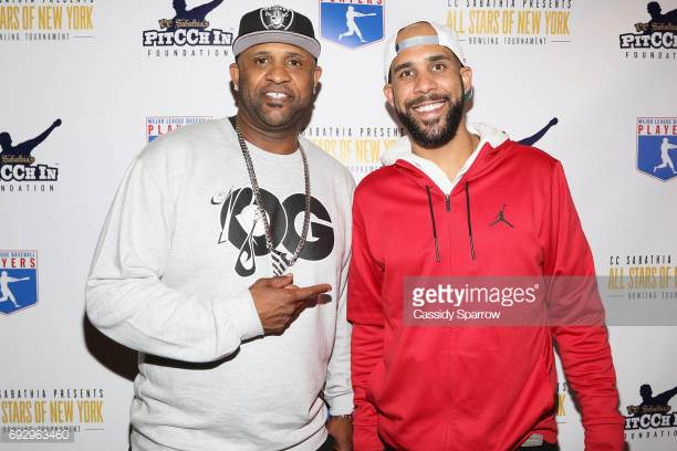 Left-handed pitchers, C.C. Sabathia (left) and David Price are pictured together attending Sabathia's PitCChIn Foundation charity bowling tournament in New York City on June 5, 2017.  Together the two newest
