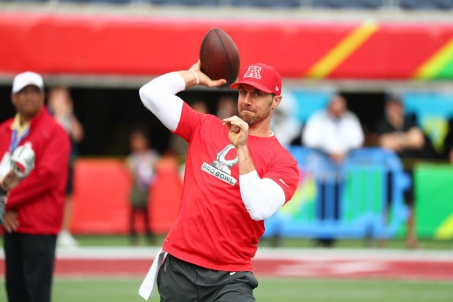 Former+Chiefs+quarterback%2C+Alex+Smith%2C+warming+up+prior+to+the+2017+Pro+Bowl+in+Orlando%2C+the+third+selection+of+his+career.++Smith+a+former+%231+overall+pick+in+2005%2C+will+be+moving+on+to+his+third+franchise+after+spending+the+first+7+years+of+his+career+with+the+San+Francisco+49ers+and+the+last+5+with+Kansas+City.+%28Via+chiefs.com%29