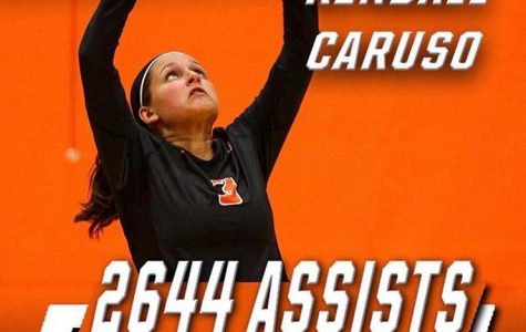 Pioneers Volleyball Honors Caruso in Win Over Rutgers-Camden