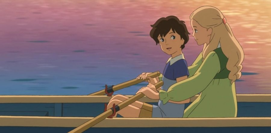 "Left: Anna and Marnie. Credit: ""When Marnie Was There"" film"