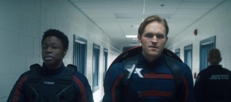 """Left: Lemar Hoskins (Cle Bennett) and John Walker (Wyatt Russell) in """"The Falcon and The Winter Soldier"""" Image Credit: Marvel Studios"""